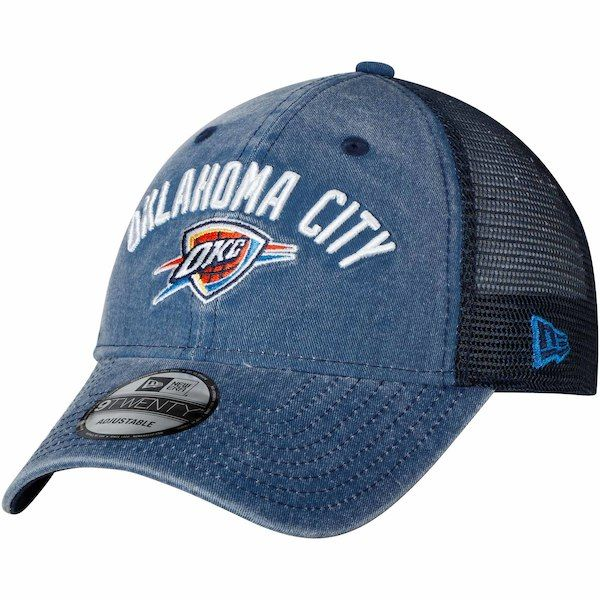 outlet store e1d21 f770e Men s Oklahoma City Thunder New Era Blue Rugged Canvas 9TWENTY Snap 2  Adjustable Hat,