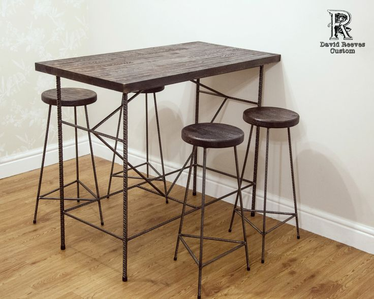 High Bar Table And Stools By Grizzlysupplies On Etsy Https Www Etsy