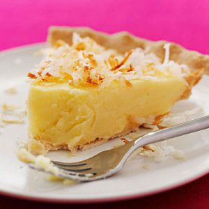 Coconut Custard Pie ummmm so there is just something really great about custard and coconut the screams eat me