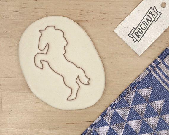 Caballo Cookie cortador - la galleta de Animal Cookie Cutter Mustang unicornio hermano princesa - 3D impreso