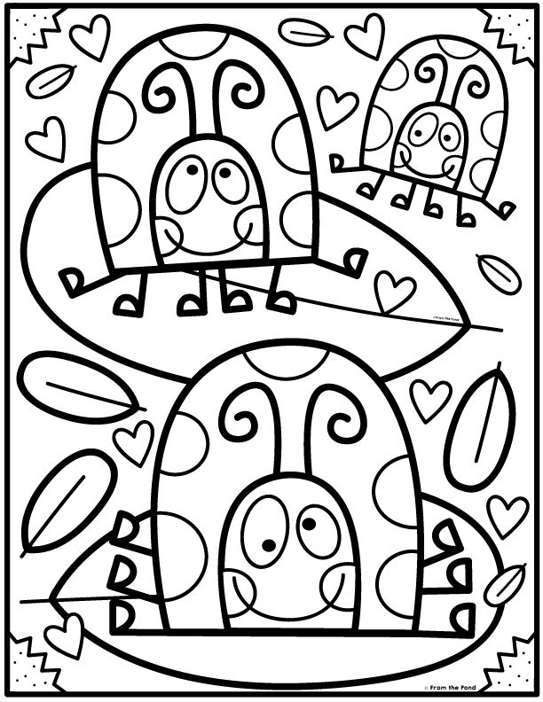 Coloring Club Library From The Pond Kindergarten Coloring