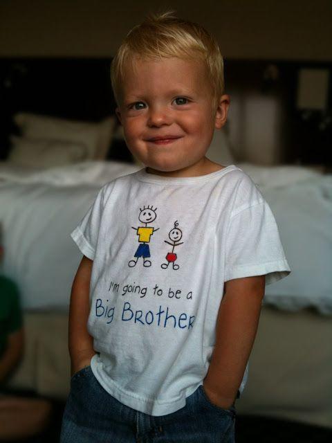 """La cesta azul: Tutorial: """"Voy a ser un hermano mayor!"""" camiseta"""