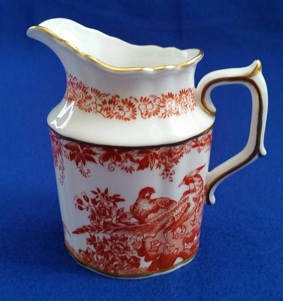 Royal Crown Derby Red Aves Mini Creamer/Vintage Mini
