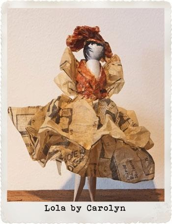 Lola. Peg doll created for the Small Acorns peg doll competition