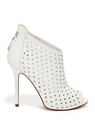 Kadar Perforated Booties at Guess