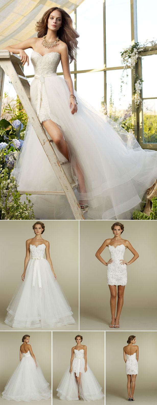 Stunning Convertible Two in One Wedding Dresses
