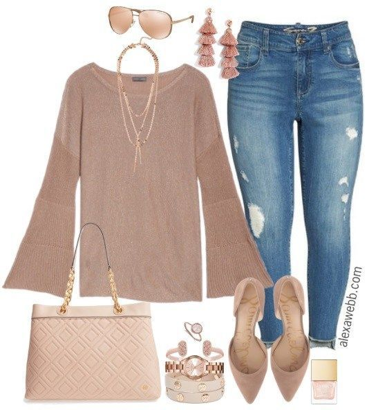Plus Size Rose Gold Outfit - Plus Size Fashion for Women - Plus Size Outfit Idea - alexawebb.com #alexawebb #plussize #rosegold