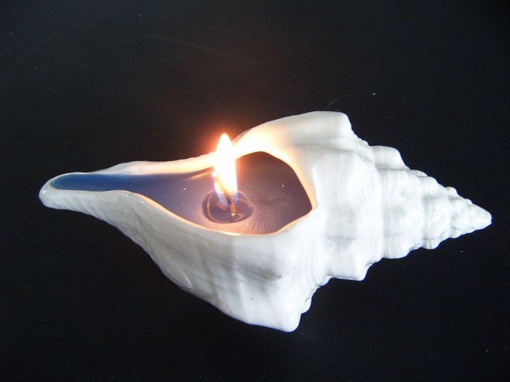 Conchas en cerámica rellanas  con parafina