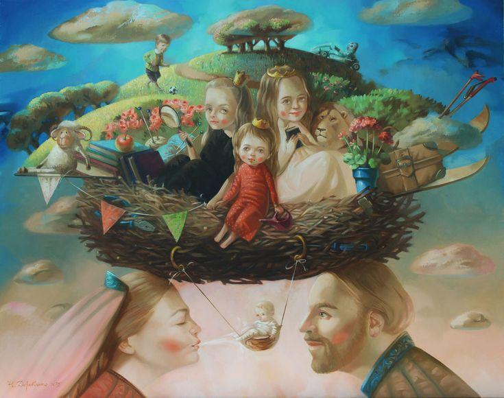 Картина Семейное гнездо Натальи Деревянко - художница Наталья Деревянко