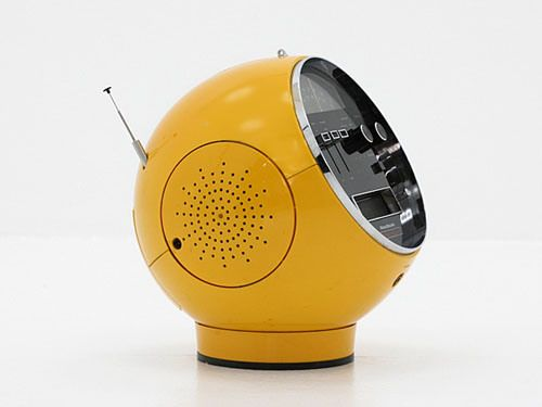 Vintage yellow (some kind of electronic device, possibly a radio) love the design | Essentials