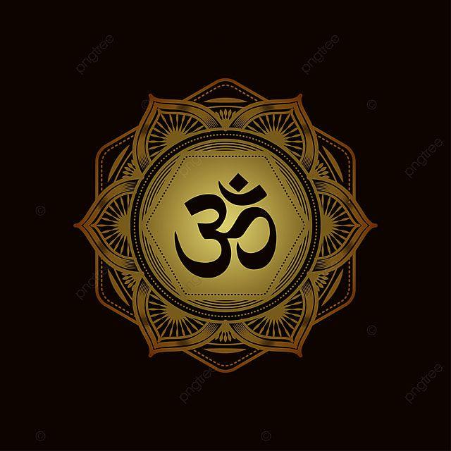 Patron Decorativo De Mandala Con Simbolo Om Apto Para Imprimir Imagenes Predisenadas De Om Posterarabic Asiatico Png Y Vector Para Descargar Gratis Pngtree In 2021 Design Pattern Art Om Symbol