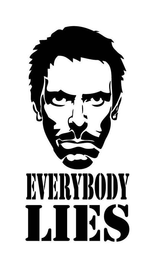 Dr. House Everybody Lies Vinyl Car Decal Bumper Window Sticker