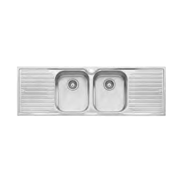 Diaz Double Bowl with Double Drainer Sink