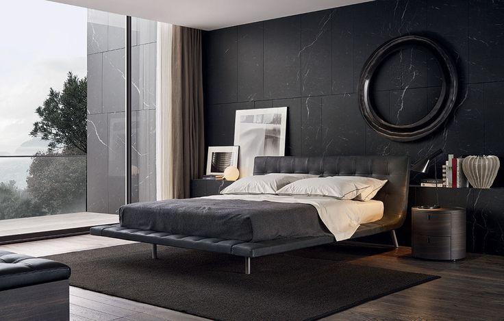 Картинки по запросу минимализм интерьер спальня черный