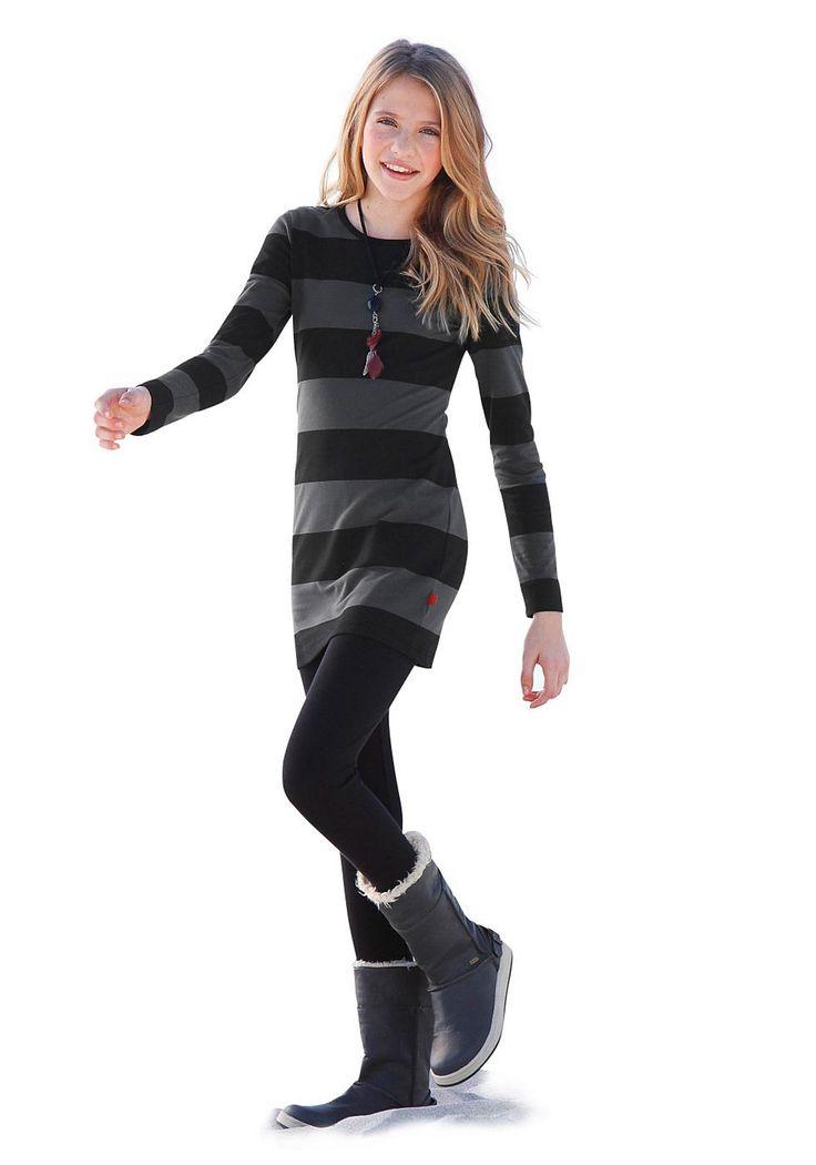 Produkttyp , Kleid & Leggings, |Material , Jersey, |Materialzusammensetzung , Obermaterial: 95% Baumwolle, 5% Elasthan, |Qualitätshinweise , Hautfreundlich Schadstoffgeprüft, |Farbe , Anthrazit-Schwarz, |Pflegehinweise , Maschinenwäsche, |Auslieferung , liegend, | ...