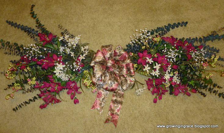 DIY floral swag