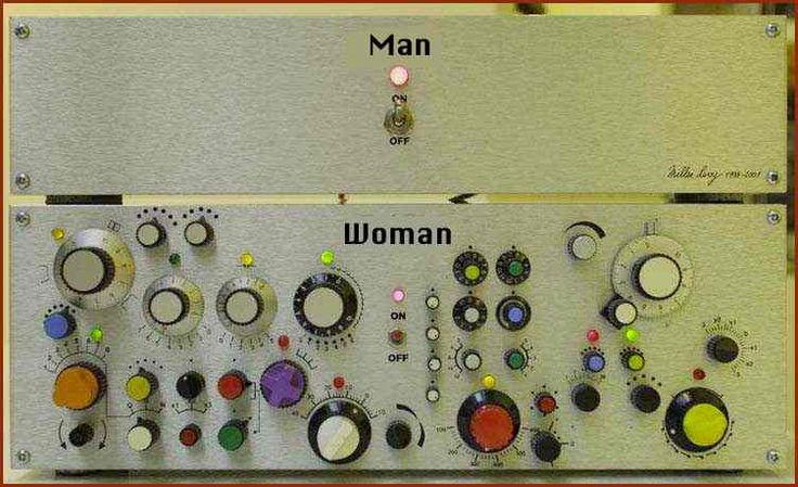 if men and women were machines funny image