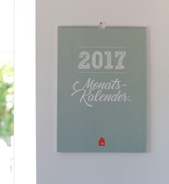 Wandkalender - Familienkalender 2017 DIN A3 6-spaltig - ein Designerstück von Heimwerk_Design bei DaWanda