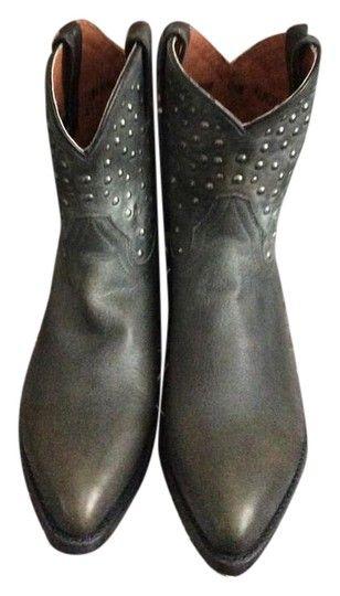 d113a7d6ce1c Harley Davidson Charcoal Leather Kira Biker Studded Low Boots Booties Size  US 8.5 Regular (