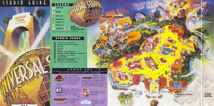 universal studios florida map 1992