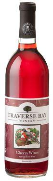Chateau Grand Traverse Cherry Wine Label