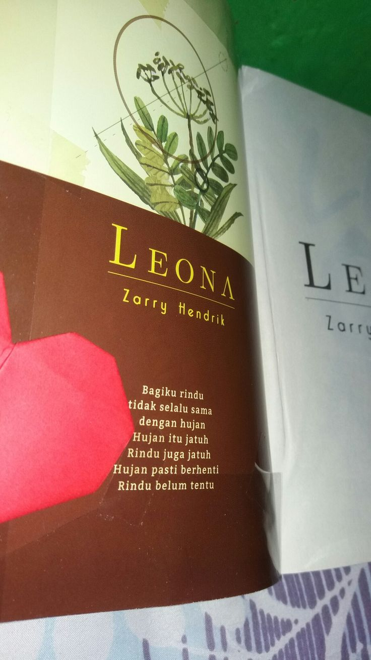 Leona by Zarry Hendrik❤ @dianasafara  Hujan pasti berhenti, rindu belum tentu