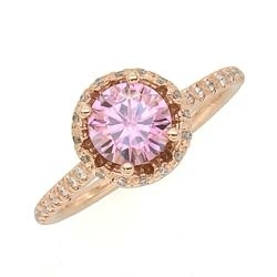 Kinda liking the idea of a pink ring...Rose Gold Pink Moissanite Ring