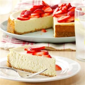 Light Cheesecake Recipe -Our family loves cheesecake, but I wanted to serve something healthier. I came up with this lighter version that I make for both holidays and everyday. —Diane Roth, Adams, Wisconsin