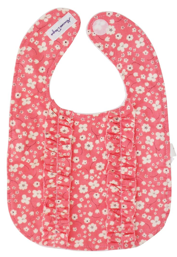 Alimrose Double Ruffle Bib - Cherry Blossom - So pretty is this double ruffle bib!