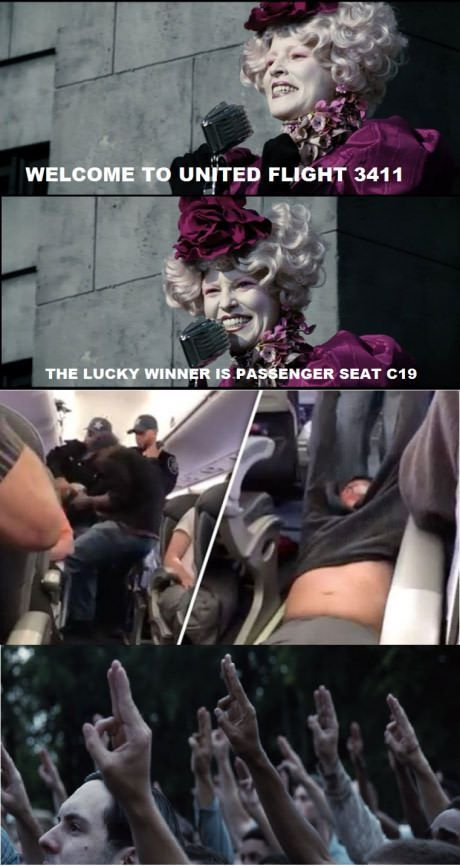 Funny Pictures | Memes | United Airlines | Hunger Games