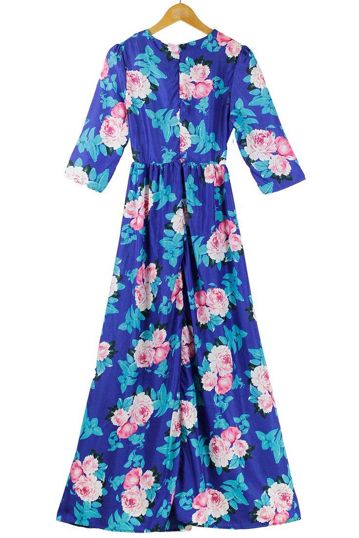 Royal blue maxi dress ebay
