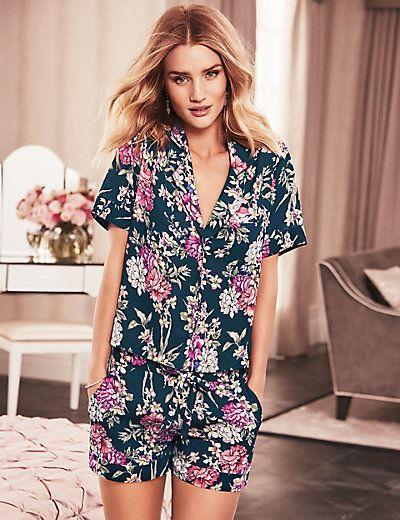 Thai Rose Short Revere Pyjamas - I'd wear this as a little summer suit - pyjama dressing