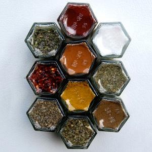 Basic Hex Spice Set spice racks, Spice set