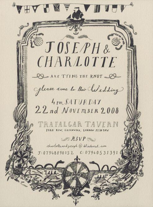 hand-lettered invite