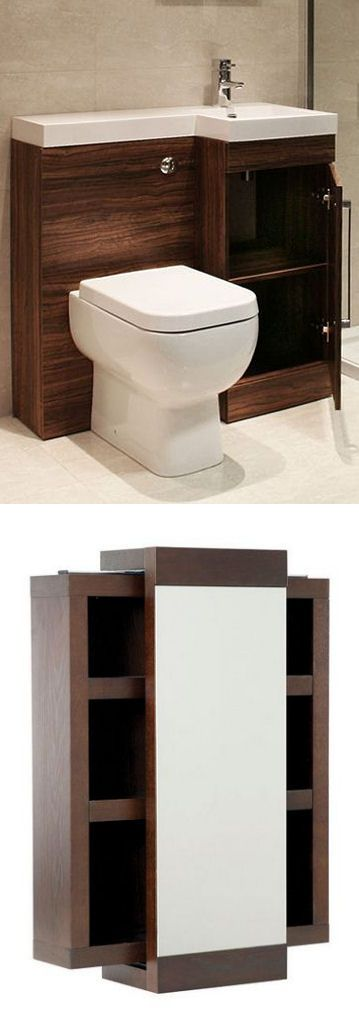 Toilet Sink Combo & Storage Caddy Mirror