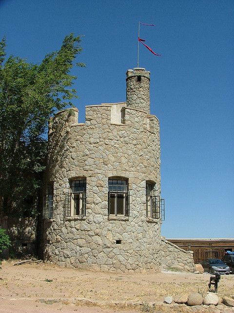 Shea's Castle was built in 1924 in the Antelope Valley near Lancaster, California.  Its design was based upon medieval Irish castles.  The property has changed hands many times and is still a private residence.  by Bernard Family