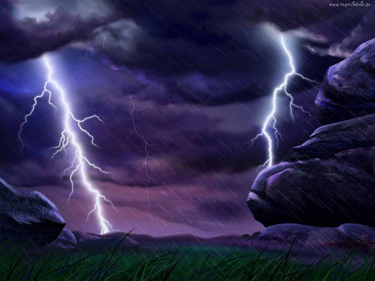 Burza, Deszcz, Skały