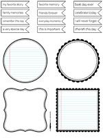 Free Journaling Spots and Labels {in black and brown} from Creating Keepsakes Magazine