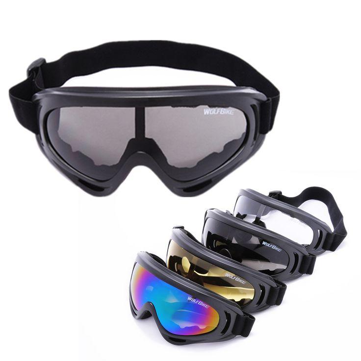 WOSAWE Super Black Motorcycle Cycling Bicycle Bike ATV Motocross Ski Snowboard Off-road Goggles Sports GLASSES Eye Lens