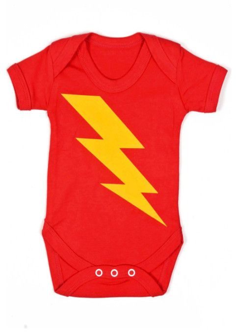 Our superhero baby grows make saving the world quick & easy, a awesome funky flash bolt to front of baby grow. FREE UK P&P & gift wrap, International delivery