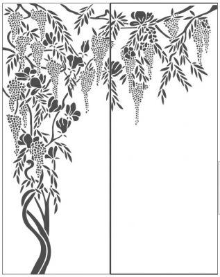 Пескоструйный рисунок дерева №437
