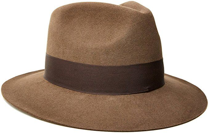 1930s Mens Hat Fashion Indiana Jones Fur Felt Fedora $107.07 AT vintagedancer.com