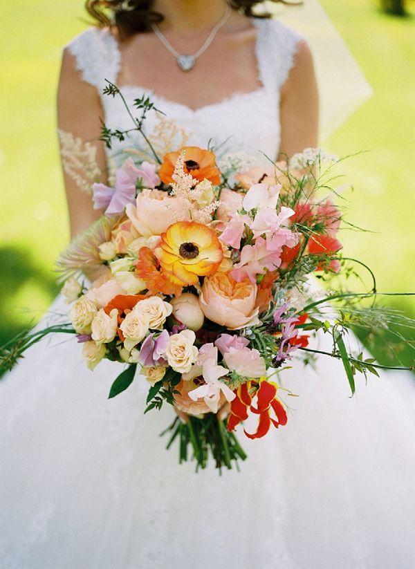 Wedding Flowers In Cheltenham : Romantic pink yellow orange wedding at cheltenham