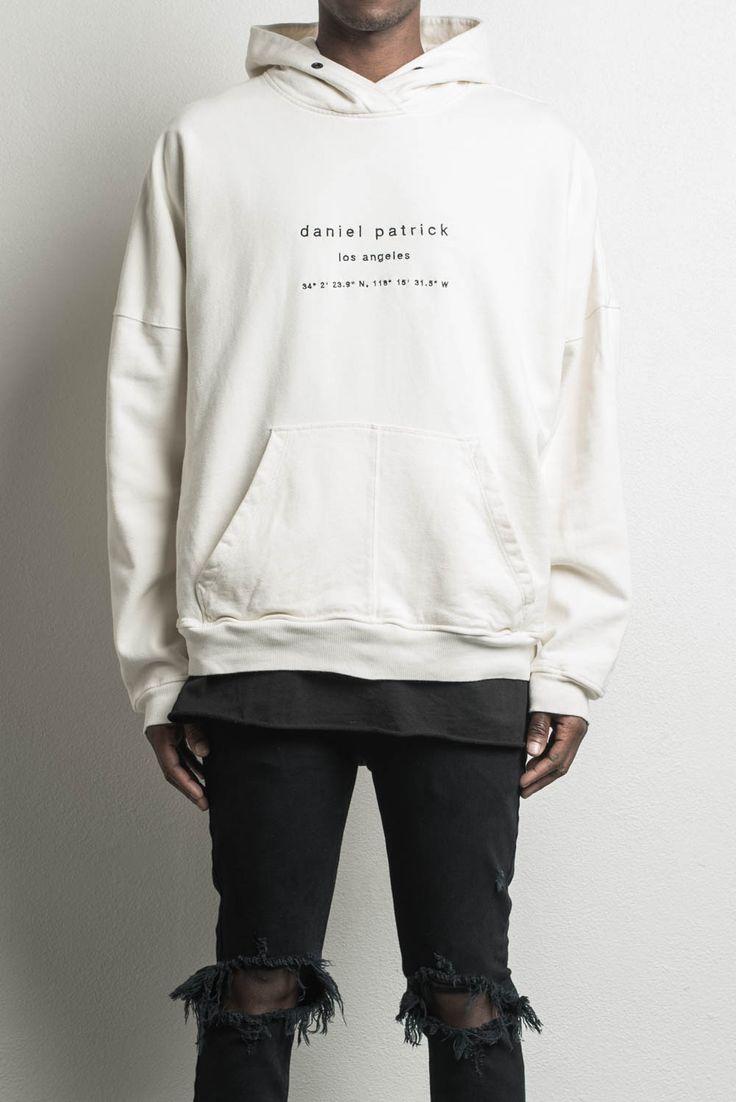 heavy hoodie LA / natural  mens designer streetwear heavyweight hoodie
