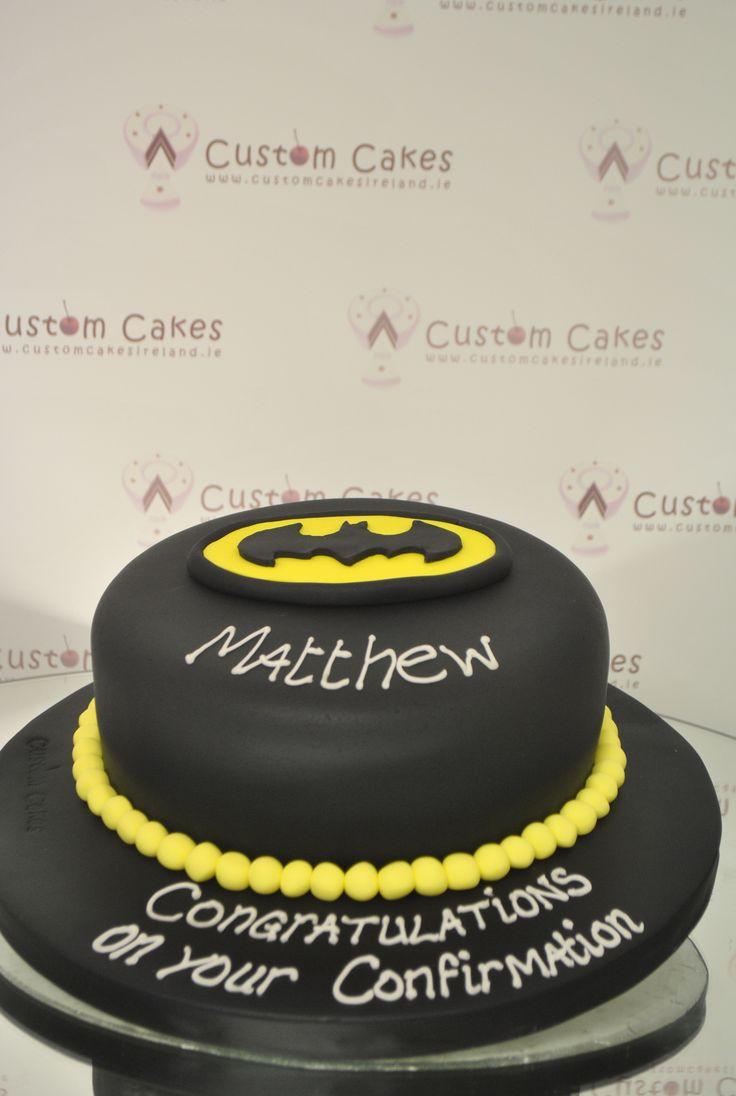 Batman themed cake for a Confirmation