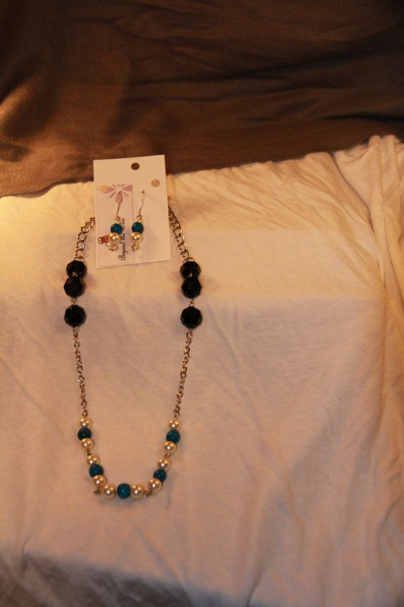 20% Off Sale, Now Until JAN 2 Blue Bead and Pearl Set- Business Attire on Etsy, $20.65 CAD