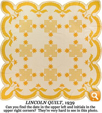 Lincoln Quilt, 1939
