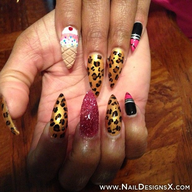 129 best mix nail designs nail art images on pinterest designs stiletto nail design nail designs nail art prinsesfo Images