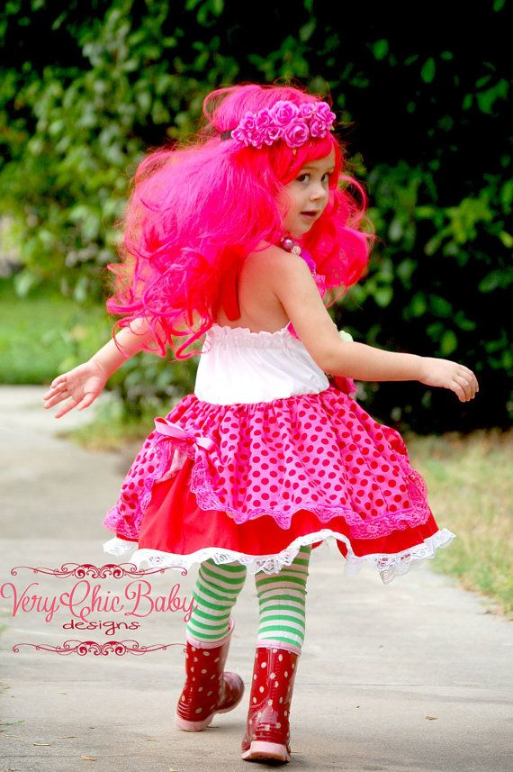 Strawberry Shortcake Custom Doll Costume Halter by VeryChicBaby