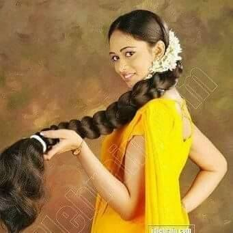 beautiful indian braid and thick
